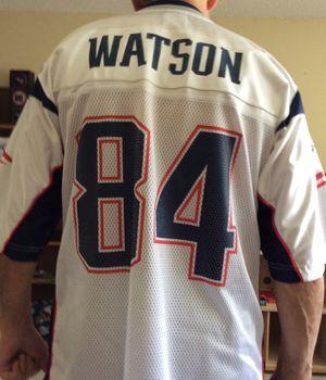 Reebok Patriots NFL Jersey, Large Size, Like New, Watson # 84 for Sale in Pinellas Park, FL