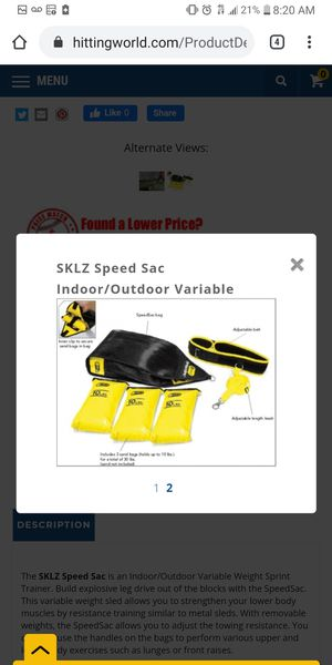 Sklz speed bag for Sale in Moreno Valley, CA