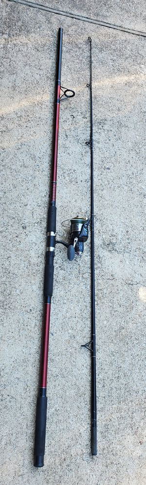 Fishing Pinnacle Red Metal 12 Foot Spinning Rod and Reel Combo for Sale in Cedar Hill, TX