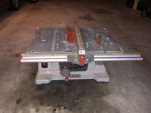 Table saw 10 in RIDGID for Sale in Chicago, IL
