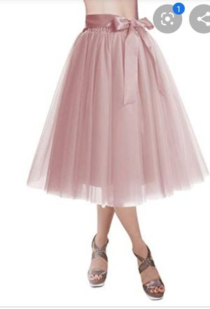 Adult Tutu tulle skirt blush pink bridal shower bride Birthday falda de mujer for Sale in Carson, CA