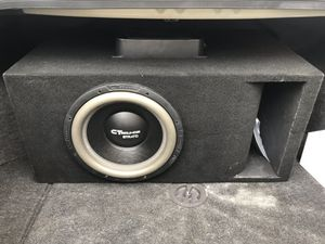 "12"" competition subwoofer custom box 1,500 watt amplifier brand new never hooked up for Sale in Clovis, CA"