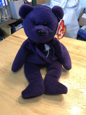 Ty Beanie Babies Princess 1997 purple for Sale in Plainfield, IL