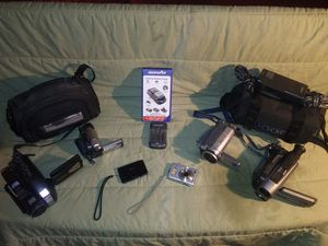 **SUPER DIGITAL CAMERA LOT**5 SONY DCR-DVD108,DCR-TRV260,CCD-TRV62,all work great. Sony TOUCHSCREEN RETAILS over $400 W/universal charger for Sale in Bakersfield, CA