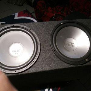 "2 12"" Polk audio work good 75firm for Sale in Pasadena, TX"