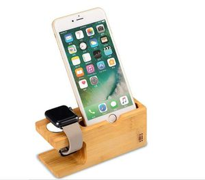 Phone Watch Stand NNEWVANTE Bamboo Wood Charging Stand Bracket Docking Station Holder for iPhone and Apple Watch for Sale in Rancho Cucamonga, CA