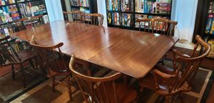Wooden Dining Set - Foldable Table & 8 Chairs for Sale in Aurora, IL
