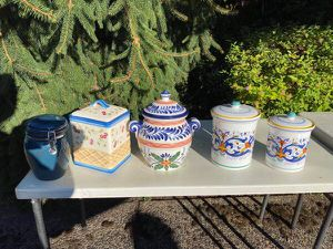 Set of six nice canisters/jars - bundle for Sale in Portland, OR