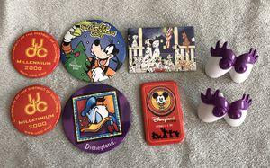 8 pc Disney collectible lot - button / pin back + mrs potato head eyes + UDC for Sale in Irvine, CA