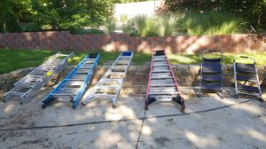Ladders in different sizes 4', 8',12',20',28' for Sale in St. Louis, MO