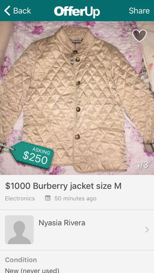 Burberry jacket for Sale in Bronx, NY