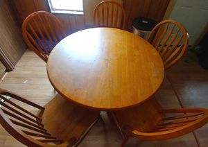 Solid wood table and chairs set for Sale in Searsport, ME