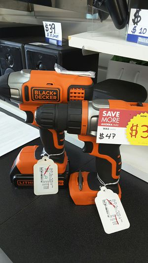 Black and decker impact drill tool set for Sale in Miami, FL