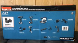 Makita 18v lxt lithium ion 8 piece combo kit(Drill Driver Impact Driver, Circul for Sale in Queens, NY