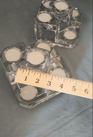 Multiple tiered glass candle holders for Sale in Henderson, NV