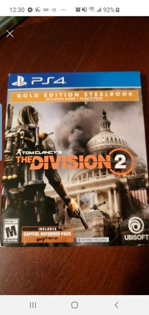 New Ps4 Gold Edition Steelbook Tom Clancy's for Sale in Houston, TX