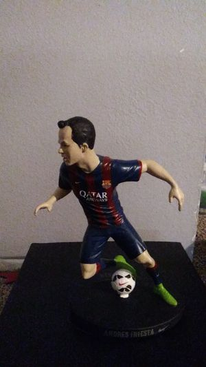 Nike. Soccer 2014 risk everything limited Iniesta figurine for Sale in Portland, OR