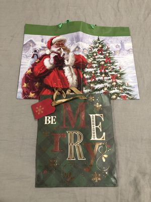 2 Xmas bags (BOTH FOR $1.00) for Sale in Hayward, CA