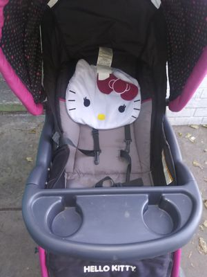 Hello kitty stroller and carseat bouncer for Sale in San Antonio, TX