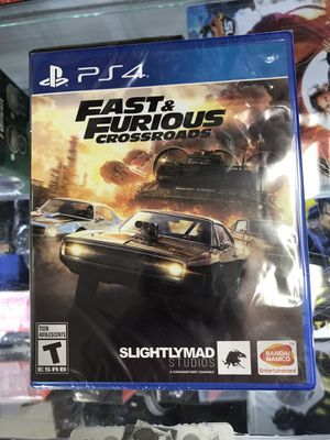 PS4 fast & furious crossroads early game, pick up today! for Sale in Culver City, CA