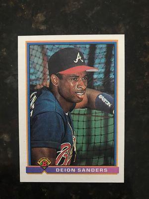 Deion Sanders Atlanta Braves Baseball Card for Sale in Kissimmee, FL