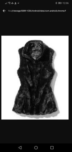 White House Black Market faux fur vest for Sale in Lodi, CA