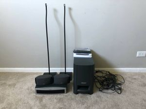 Bose 321 Media DVD Center, Powered Subwoofer and Speakers for Sale in Mount Prospect, IL