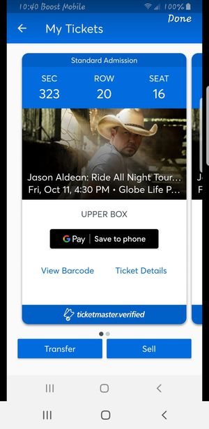 Jason Aldean: Ride All Night Tour with Kane Brown and Carly Pearce for Sale in San Angelo, TX