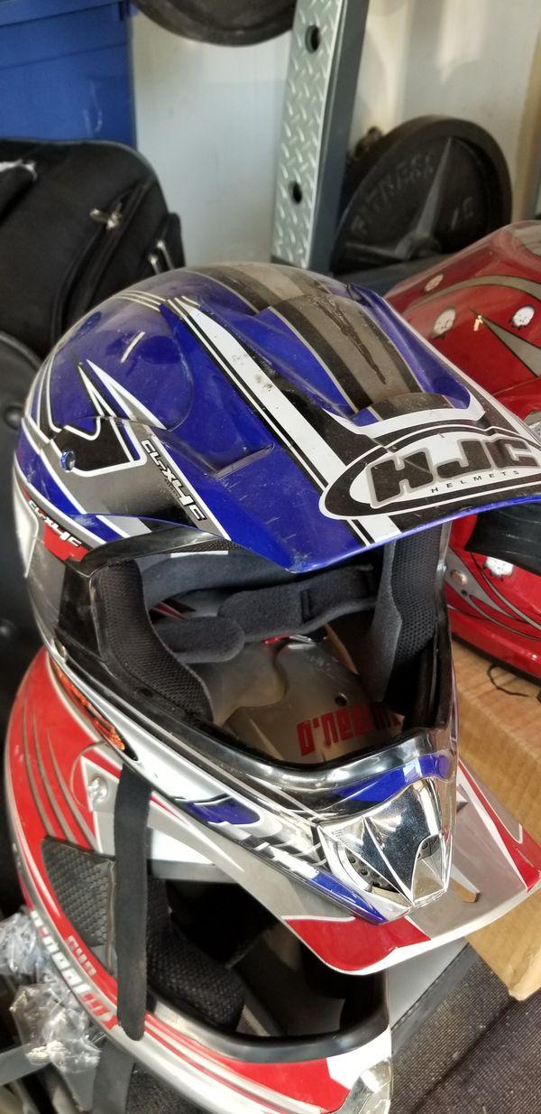 Dirt bike and motorcycle helmets