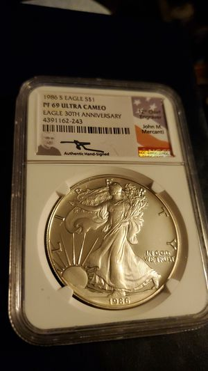 1986 s American Eagle PR69 Ultra Cameo 30TH Year Anniversary *NGC Certified * for Sale in Middle River, MD