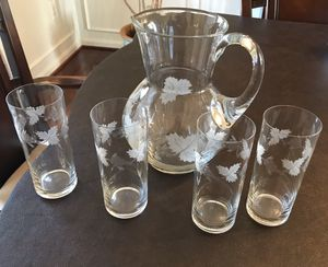Glass Pitcher set for Sale in Germantown, MD