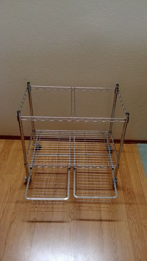 Heavy Duty Stainless steel file cart with 2 drawers. for Sale in Marysville, WA
