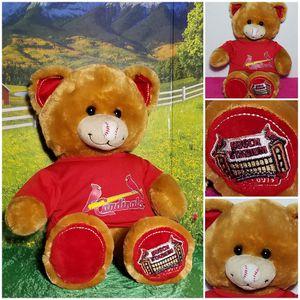 💙Super Rare ❤ Build A Bear Busch Gardens Teddy plush Baseball Nose Sound Cardinals for Sale in Dale, TX