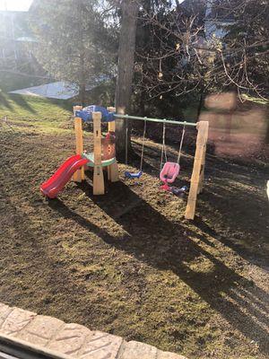 Swing set and slide for Sale in Farmington Hills, MI