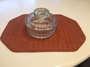 Vintage, sleek, covered glass serving dish for Sale in Rockville, MD