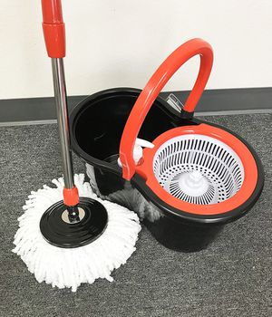 Brand new $15 each Spin Mop 360 degree press mop bucket set with push and pull rotation for Sale in Pico Rivera, CA