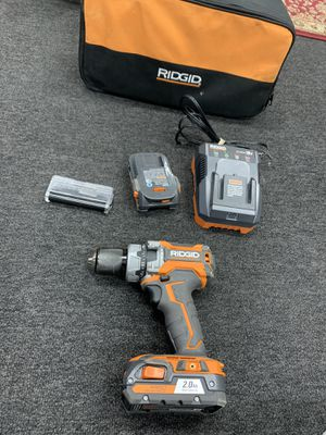 Ridgid 18V Brushless Hammer Drill with Charger, Bits and extra Battery for Sale in Oxford, CT