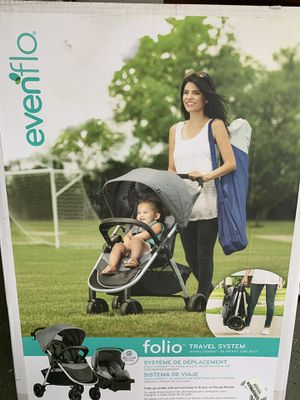 Evenflo folio Travel System - Baby Car seat and stroller for Sale in Schaumburg, IL