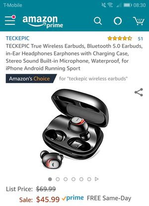 Wireless Bluetooth earbuds- new for Sale in Naperville, US