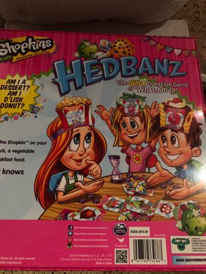 Shopkins hedbanz Brand New Game for Sale in Virginia Gardens, FL