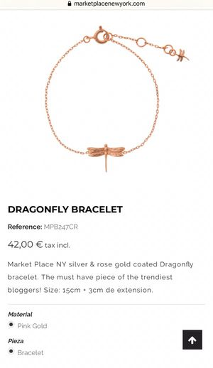 Dragonfly bracelet in silver and rose gold for Sale in Los Angeles, CA