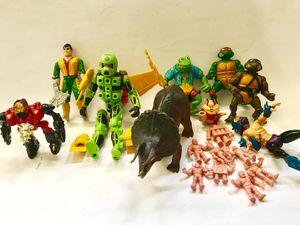 80s action figure lot Ninja Turtles M.U.S.C.L.E Centurions Starriors for Sale in San Dimas, CA
