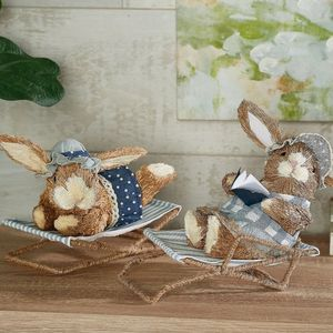 2-Piece Lounging Sisal Bunnies by Valerie for Sale in Pompano Beach, FL