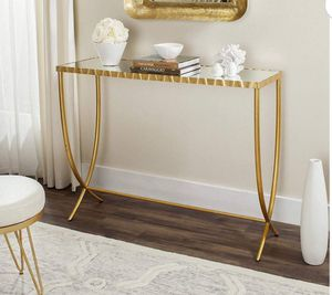 Safavieh FOX6256A Home Collection Princess Mirror Top Console Table, Gold for Sale in Peoria, AZ