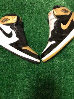 Jordan 1 High Top 3 Gold Toe Vnds Rep Box for Sale in Boring,  OR