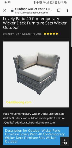 Whicker patio furniture for Sale in San Antonio, TX
