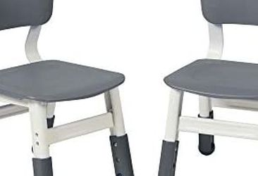 ECR4Kids Durable Resin Classroom Chairs, Indoor Kids Children Toddler Seating Schools Daycares, Homes, Adjustable Seat Height, Grey 2-Pack Ecr Kids for Sale in Whittier,  CA