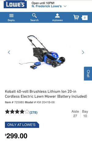 Kobalt Electric Lawnmower for Sale in Frederick, MD