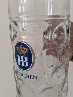 HB German Beer Mug 1L (Heavy Duty Glass) for Sale in Greer,  SC