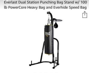 Dual station punching bag stand for Sale in The Bronx, NY